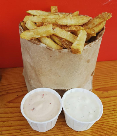 Fresh Cut Fries at Al's Gourmet Falafel and Fries, Salt Spring Island, BC Restaurant