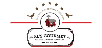 Logo: Al's Gourmet Falafel and Fries, Salt Spring Island, BC Restaurant